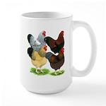 Wyandotte Rooster Assortment Large Mug