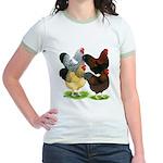 Wyandotte Rooster Assortment Jr. Ringer T-Shirt