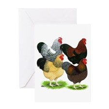 Wyandotte Rooster Assortment Greeting Card