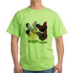 Wyandotte Rooster Assortment Green T-Shirt
