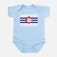 Cincinnati Flag Infant Creeper