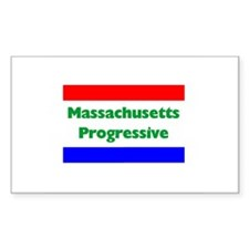 Massachusetts Progressive Rectangle Decal