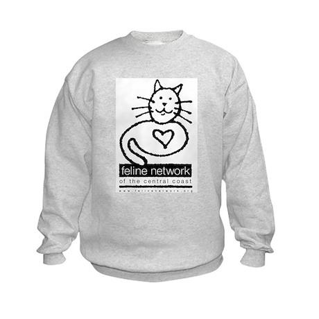 Feline Network Logo - BW Kids Sweatshirt