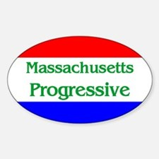 Massachusetts Progressive Oval Decal