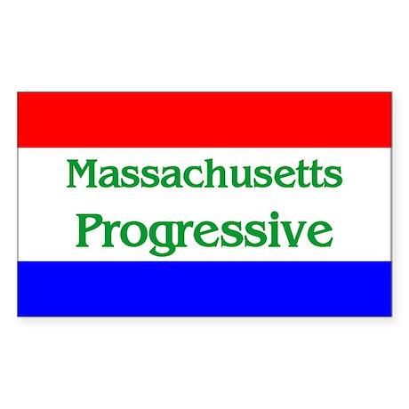 Massachusetts Progressive Rectangle Sticker