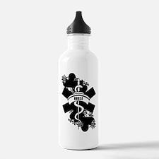 Nurse Heart Tattoo Water Bottle