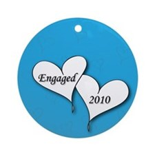 Blue AH Engaged 2010 Ornament (Round)