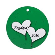 Green AH Engaged 2010 Ornament (Round)