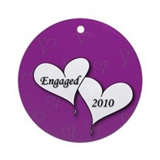 Purple AH Engaged 2010 Ornament (Round)