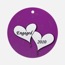 Purple AH Engaged 2010 Ornament (Round)