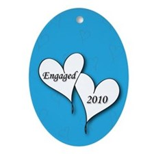 Blue AH Engaged 2010 Ornament (Oval)