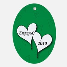 Green AH Engaged 2010 Ornament (Oval)