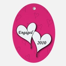 Pink AH Engaged 2010 Ornament (Oval)