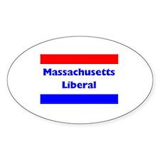 Massachusetts Liberal Oval Decal
