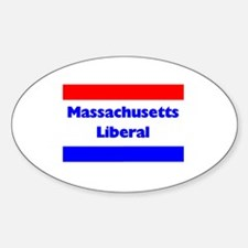 Massachusetts Liberal Oval Decal