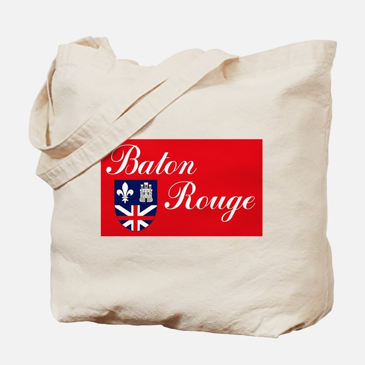 Baton Rouge Flag Tote Bag