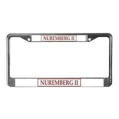 NUREMBERG II License Plate Frame