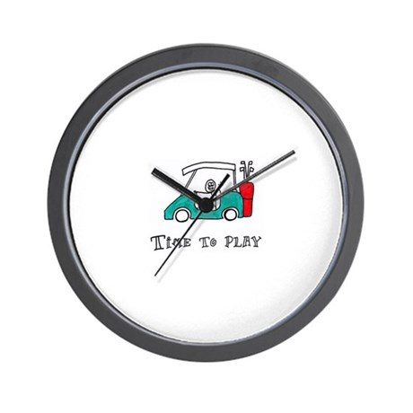 Time To Play- Golf Cart Wall Clock