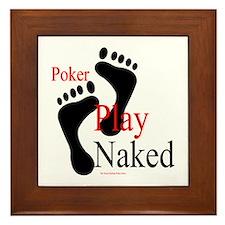 Footprints:Play Naked Framed Tile