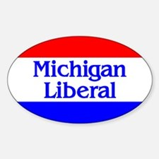 Michigan Liberal Oval Decal