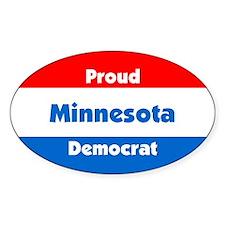 Proud Minnesota Democrat Oval Decal