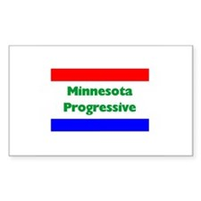 Minnesota Progressive Rectangle Decal
