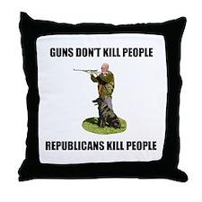 Guns Don't Kill People, Repub Throw Pillow