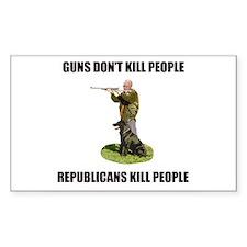 Guns Don't Kill People, Repub Sticker (Rectangular