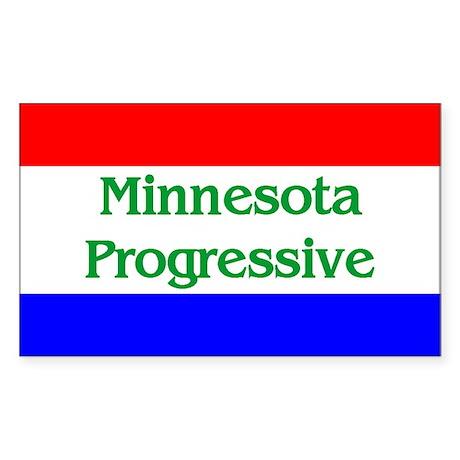 Minnesota Progressive Rectangle Sticker