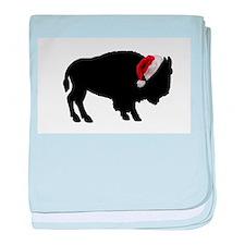 Funny Hockey christmas baby blanket