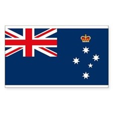 Victoria Flag Rectangle Decal