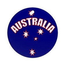 Australia Southern cross star Ornament (Round)