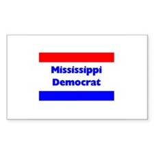 Mississippi Democrat Rectangle Decal
