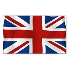 Union Jack flying flag Decal