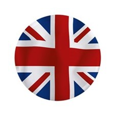 """Union Jack flying flag 3.5"""" Button"""