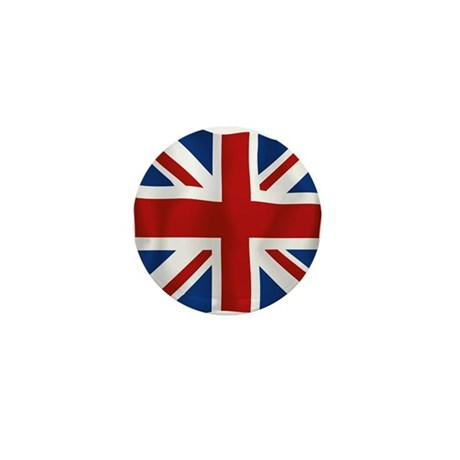Union Jack flying flag Mini Button (10 pack)