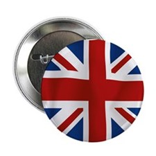"""Union Jack flying flag 2.25"""" Button (10 pack)"""