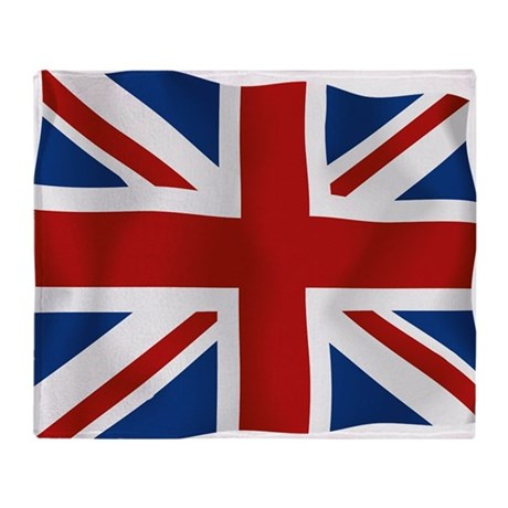 Union Jack flying flag Throw Blanket