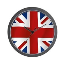 Union Jack flying flag Wall Clock