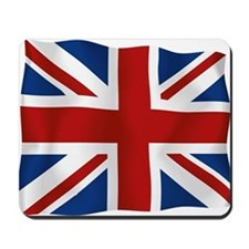 Union Jack flying flag Mousepad