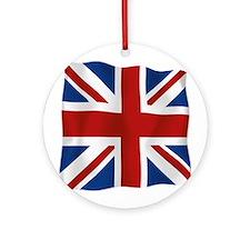 Union Jack flying flag Ornament (Round)