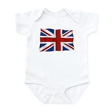 Union Jack flying flag Infant Bodysuit