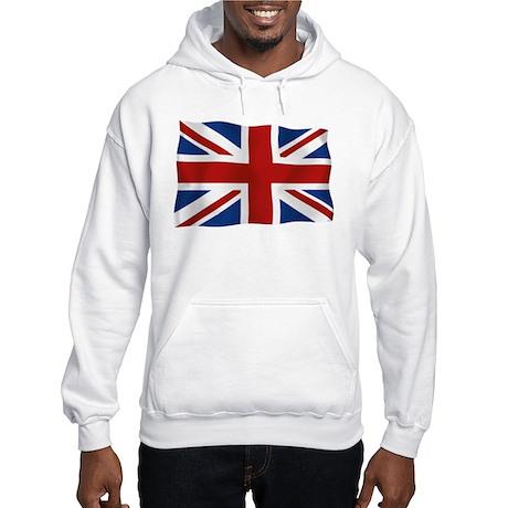 Union Jack flying flag Hooded Sweatshirt