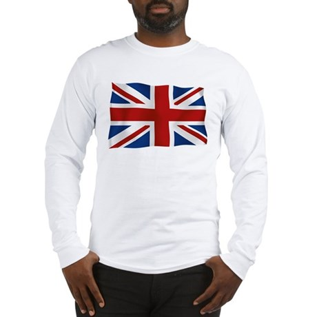 Union Jack flying flag Long Sleeve T-Shirt