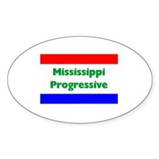 Mississippi Progressive Oval Decal
