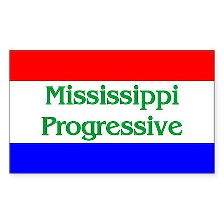 Mississippi Progressive Rectangle Sticker