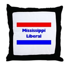 Mississippi Liberal Throw Pillow