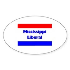 Mississippi Liberal Oval Decal