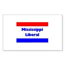 Mississippi Liberal Rectangle Decal
