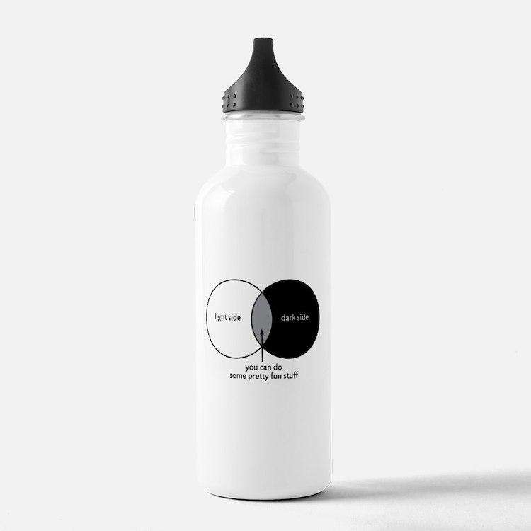 Dark Side Venn Diagram Water Bottle